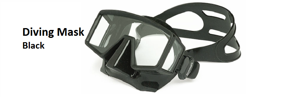 15 Diving Mask Black